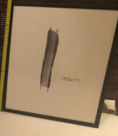 """Inturn"" - 21.5"" x 27"" - Framed Rice Paper Picture Poem"