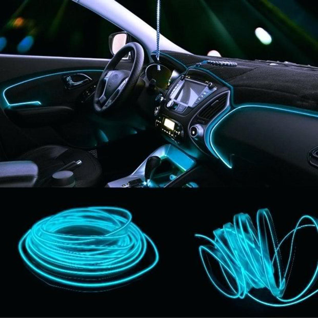 Car Interior Neon LED Rope Light