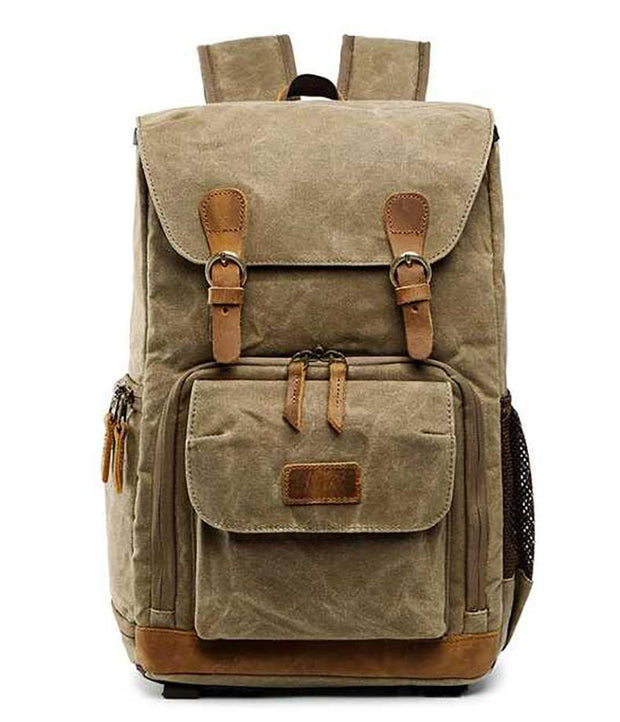 Vintage Outdoor Waterproof Camera Bag Backpack