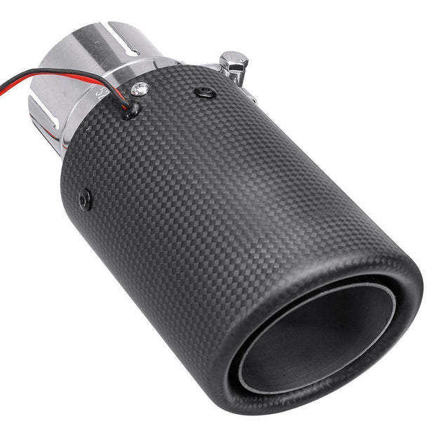 Universal Matte Carbon Fiber Car Exhaust Tail Muffler Pipe