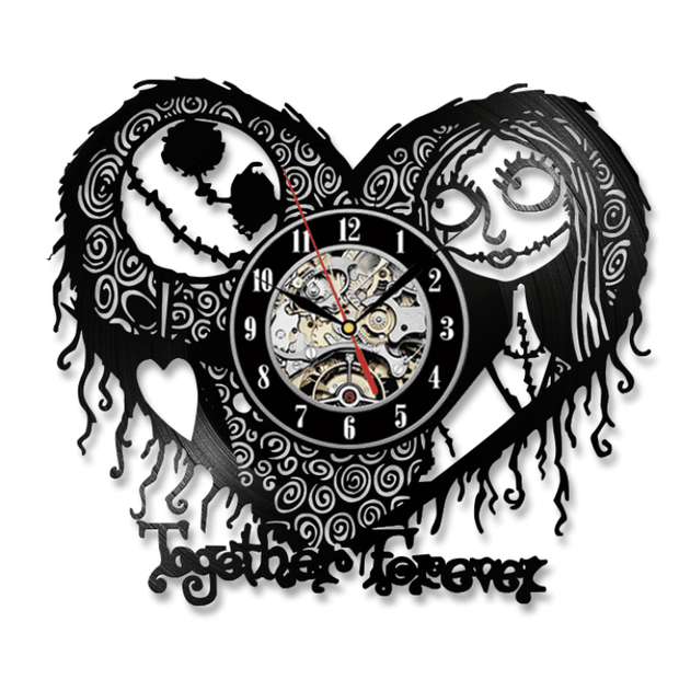 Nightmare Before Christmas Vinyl Clock