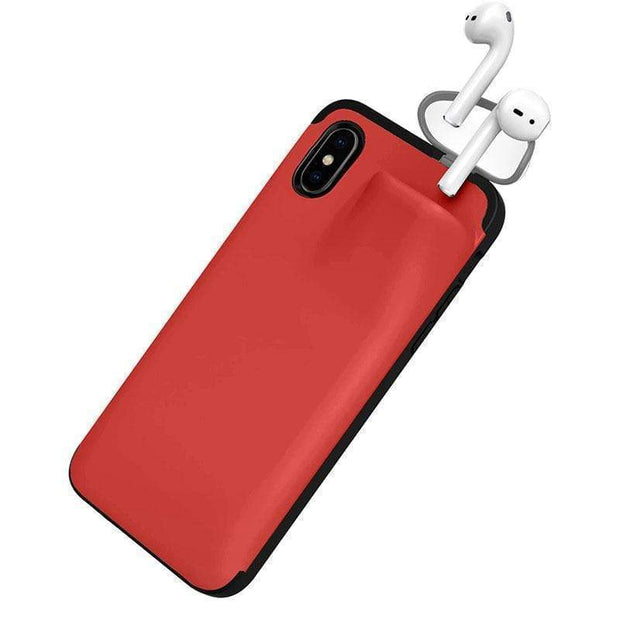 iPhone Case with Airpod Holder