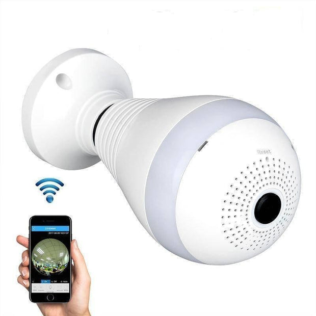 Panoramic Wireless LED Bulb Security Camera
