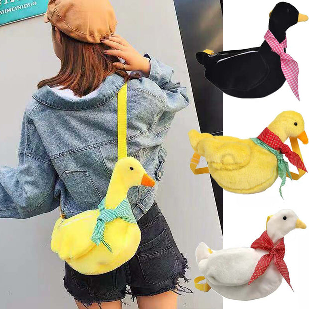 Duck Plush Crossbody Purse