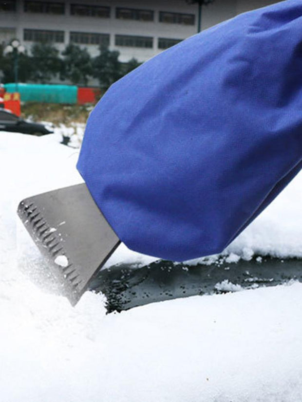 Snow-Off Car Scraper Removal Gloves
