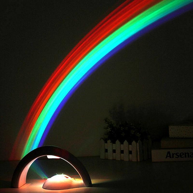 3D LED Rainbow Projection Lamp
