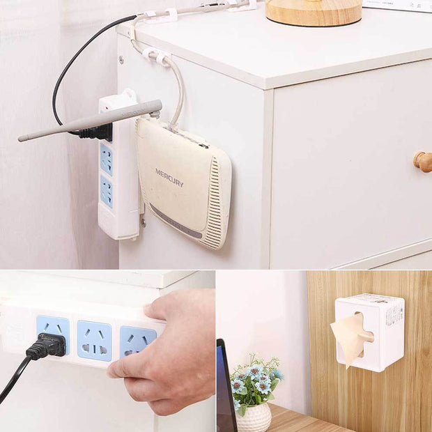 Sticky Plug Socket Holder