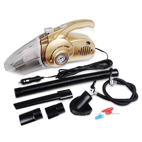 4-in-1 Car Vacuum Air Compression Flash Light Nozzle