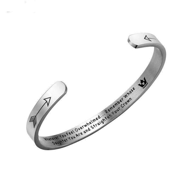 Whenever You Feel Overwhelmed Straighten Your Crown Bracelet Bangle