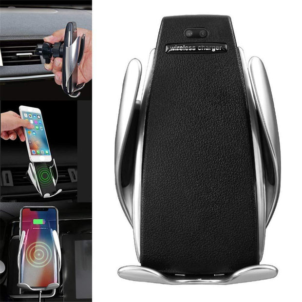 Automatic Clamping Wireless Car Charger Mount for iPhone and Android