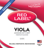 "Supersensitive 4104 Red Label Viola. Nickel 13"" Medium Gauge"