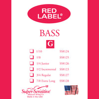 Supersensitive 8137 Red Label Bass. D String Nickel 3/4 Medium Gauge