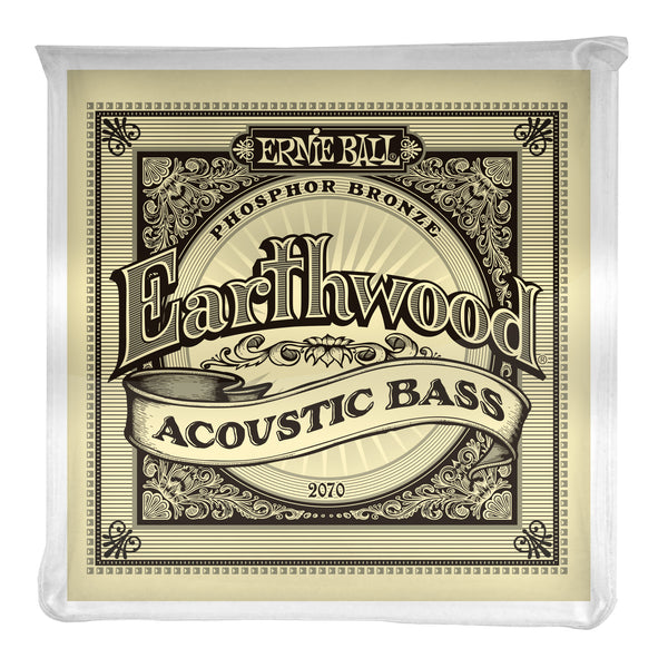 Ernie Ball P02070 Earthwood Phosphor Bronze Acoustic Bass Strings. 45-95