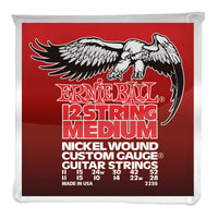 Ernie Ball PO2236 Medium (12 String) Nickel Wound Electric Guitar Strings. 11-52