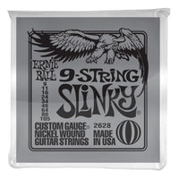 Ernie Ball P02628 Slinky 9-String Nickel Wound Electric Guitar Strings. 9-105