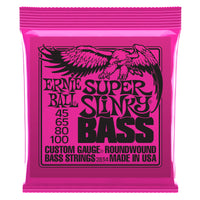 Ernie Ball P02834 Super Slinky Nickel Wound Electric Bass Strings. 45-100