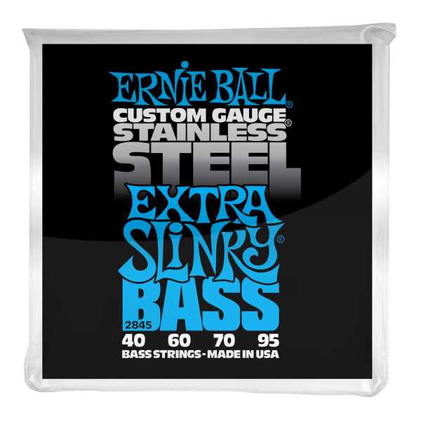 Ernie Ball P02845 Extra Slinky Stainless Steel Electric Bass Strings. 40-95