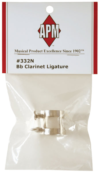 American Plating APM 332N-12 Nickel Plated Bb Clarinet Ligature. (12 pack)