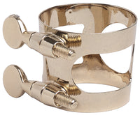 American Plating APM 334G-12 Brass Lacquer Alto Saxophone Ligature. (12 pack)