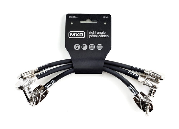 "MXR 3PDCP06 Patch Cable. Right Angle 6"" (3 Pack)"