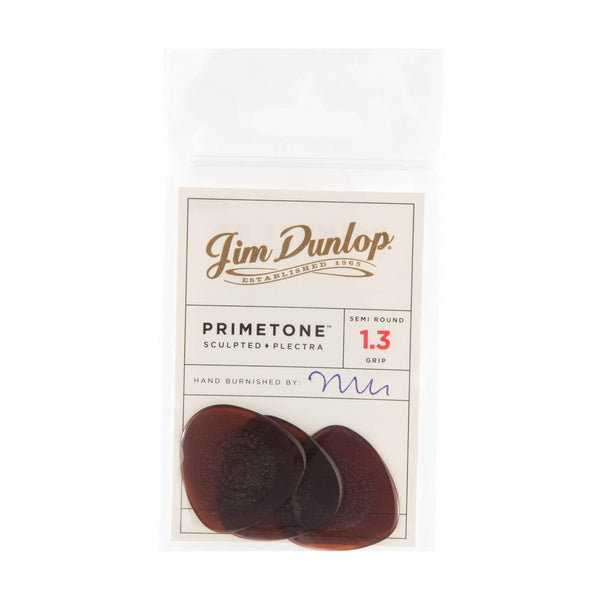 Dunlop 514P Primetone Semi Round Guitar Pick W/Grip 1.30mm (3 Pack)