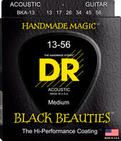 DR Strings BKA-13 Black Beauties Colored Acoustic Guitar. 13-56