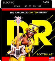 DR Strings BZ-45 Bootzillas Clear Coated Stainless Steel Bass Strings. 45-105