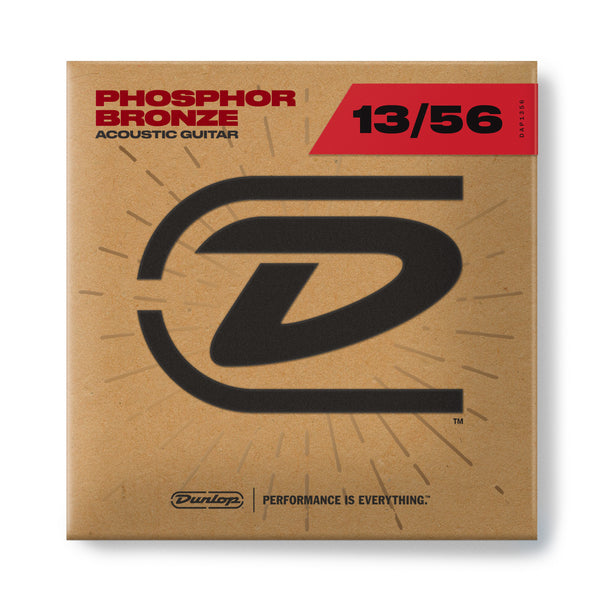 Dunlop DAP1356 Phosphor Bronze Acoustic Guitar Strings. 13-56