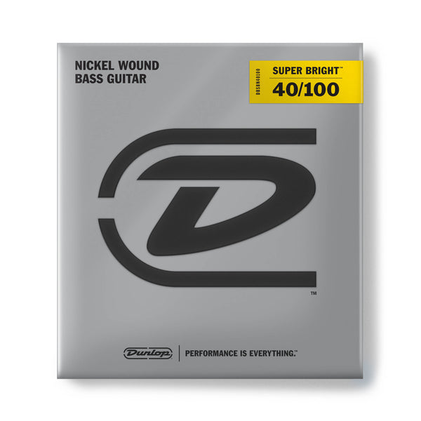 Dunlop DBSBN40100 Super Bright Nickel Wound Bass Strings. 40-100