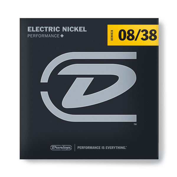Dunlop DEN0838 Performance+ Nickel Wound Electric Guitar Strings. 8-38