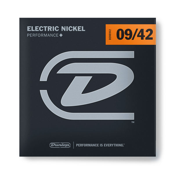 Dunlop DEN0942 Performance+ Nickel Wound Electric Guitar Strings. 9-42