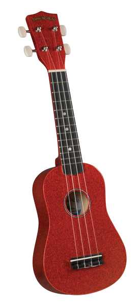 Diamond Head DU-142 Soprano Ukulele. Red Sparkle
