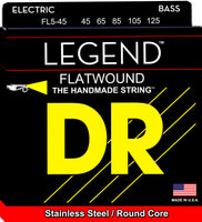 DR Strings FL5-45 Legend Flatwound Electric Bass Strings (5 String). 45-105