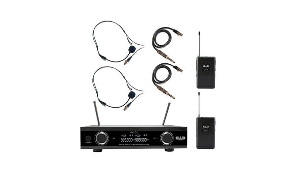 CAD Audio GXLD2BBAH Dual Channel Dual Bodypack Wireless Microphone System. AH Frequency