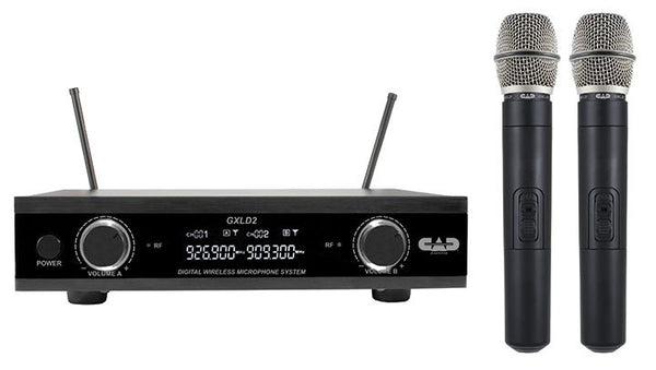 CAD Audio GXLD2HHAH Dual Channel Dual Handset Wireless Microphone System. AH Frequency
