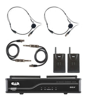 CAD Audio GXLVBBH Dual Bodypack Microphone System. Band H