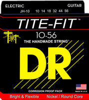 DR Strings JH-10 Tite-Fit Nickel Plated Electric Guitar Strings. 10-56