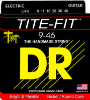 DR Strings LH-9 Tite-Fit Nickel Plated Electric Guitar Strings. 9-46
