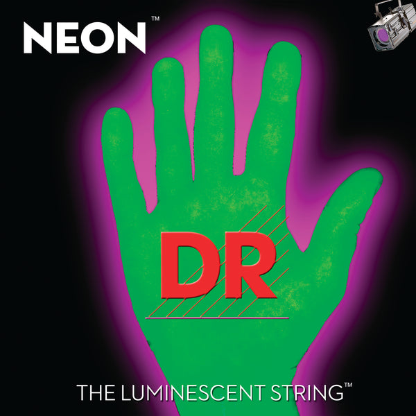 DR Strings NGB-45 Hi-Def Neon Colored Bass Strings. Green 45-105