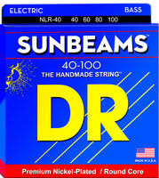 DR Strings NLR-40 Sunbeam Nickel Plated Electric Bass. 40-100
