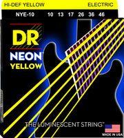 DR Strings NYE-10 Hi-Def Neon Electric Guitar Strings. Yellow 10-46