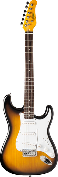 Oscar Schmidt OS-300-TS-A Double Cut Electric Guitar. Tobacco Sunburst