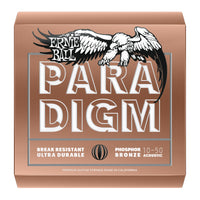 Ernie Ball P02080 Paradigm Extra Light Phosphor Bronze Acoustic Guitar Strings. 10-50