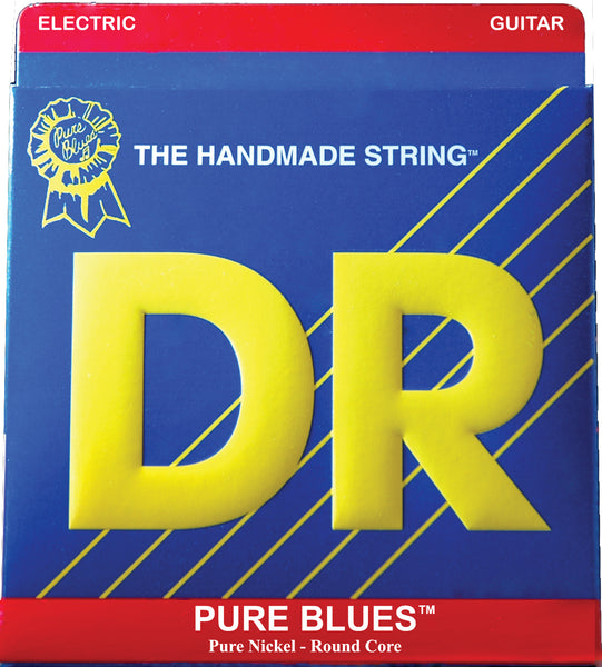 DR Strings PHR9 Pure Blues Nickel Round Core Electric Guitar Strings. 9-42