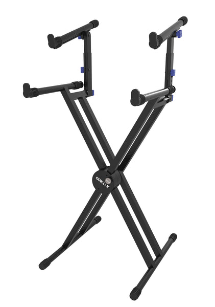 Quik Lok QL-742 Double Braced 2 Tier Keyboard Stand