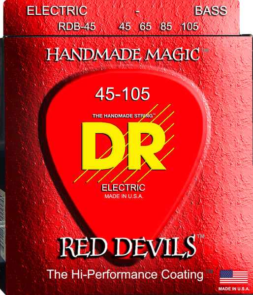 DR Strings RDB5-45 Red Devils Nickel Plated Steel Bass Strings (5 String). 45-125