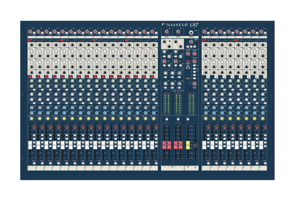 Soundcraft RW5675 LX7ii Mixer. 24 Channel