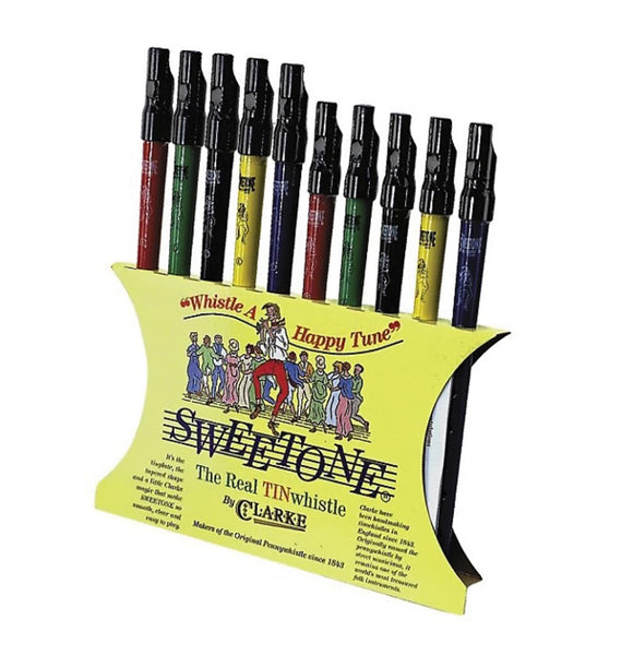 Clarke Pennywhistle SDU10 Sweetone Display. Box of 10 Colors