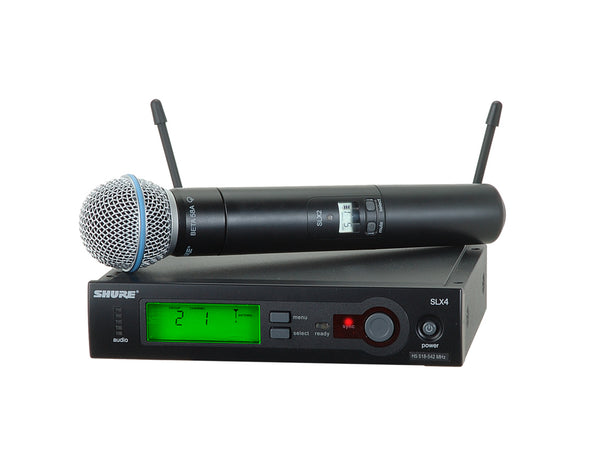 Shure SLX24/BETA58-J3 System With SLX24/BETA58 Handheld Transmitter. Frequency Band Version J3