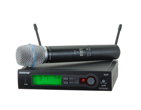 Shure SLX24/BETA87A System With SLX2/BETA87A Handheld Transmitter. Frequency Band Version J3